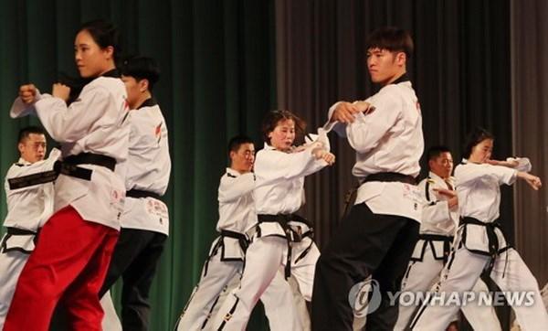 Hai mien Trieu Tien bieu dien taekwondo chung lan dau tai Binh Nhuong hinh anh 1
