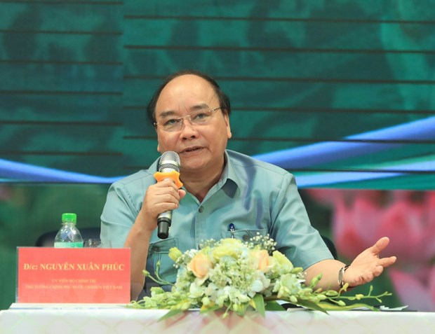 Thu tuong Nguyen Xuan Phuc doi thoai voi nong dan tai Hai Duong hinh anh 1