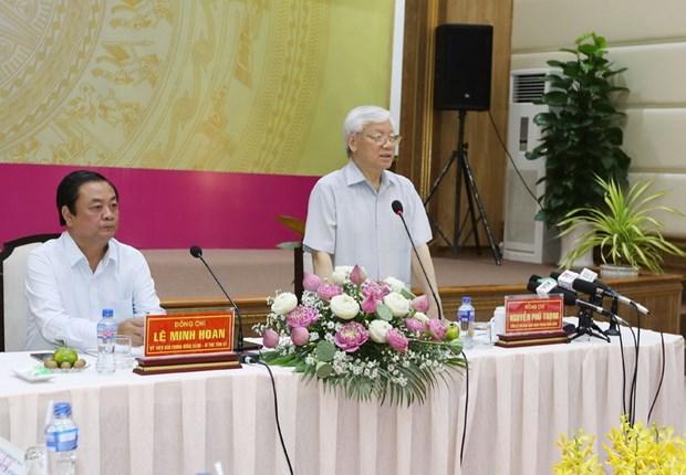 Tong Bi thu Nguyen Phu Trong tham, lam viec tai tinh Dong Thap hinh anh 1