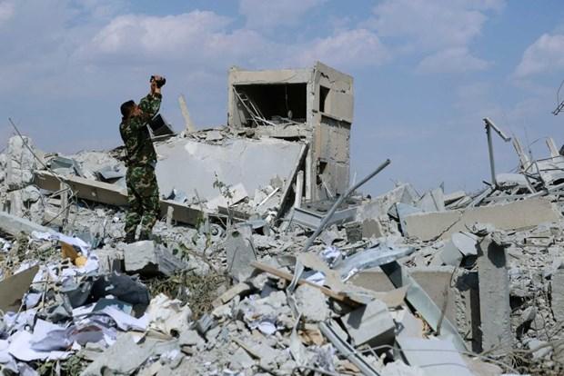 Nga: Hinh anh vu tan cong hoa hoc tai Syria duoc dan dung hinh anh 1
