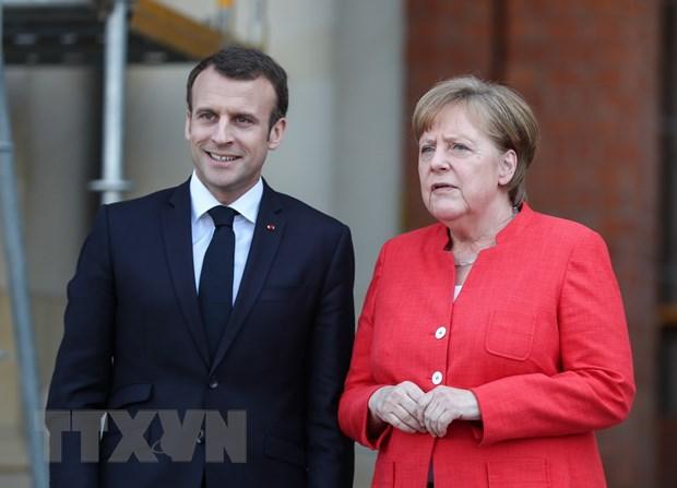 Tong thong Phap Emmanuel Macron cong du Duc ban luan cai cach EU hinh anh 1