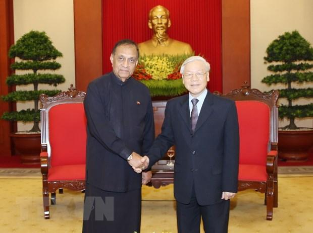 Tong Bi thu Nguyen Phu Trong tiep Chu tich Quoc hoi Sri Lanka hinh anh 1