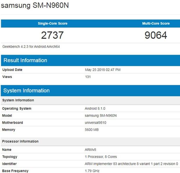 Galaxy Note 9 co the se co hai phien ban chay chip xu ly khac nhau hinh anh 2