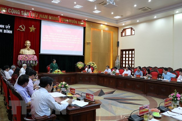 Bo Chinh tri tien hanh kiem tra Ban Thuong vu Tinh uy Ninh Binh hinh anh 1