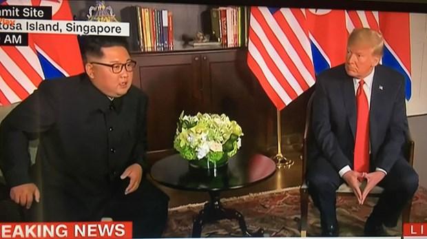 Tong thong My Donald Trump va nha lanh dao Trieu Tien bat dau hop kin hinh anh 1