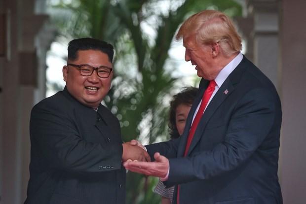 Tong thong My Donald Trump va nha lanh dao Trieu Tien hoi dam rieng hinh anh 1