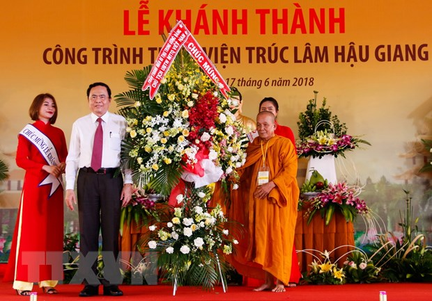 Giao hoi Phat giao khanh thanh Thien vien Truc Lam Hau Giang hinh anh 1