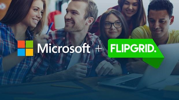 Microsoft thau tom nen tang thao luan nhom hang dau the gioi Flipgrid hinh anh 1
