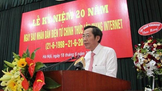 Bao Nhan dan dien tu ky niem 20 nam phat hanh tren mang internet hinh anh 1
