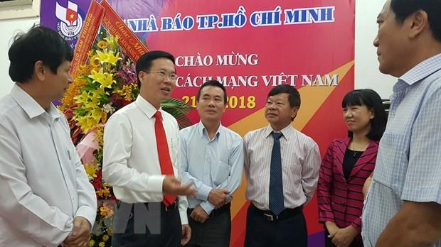 Truong ban Tuyen giao TW tham, chuc mung Hoi Nha bao TP.HCM hinh anh 1
