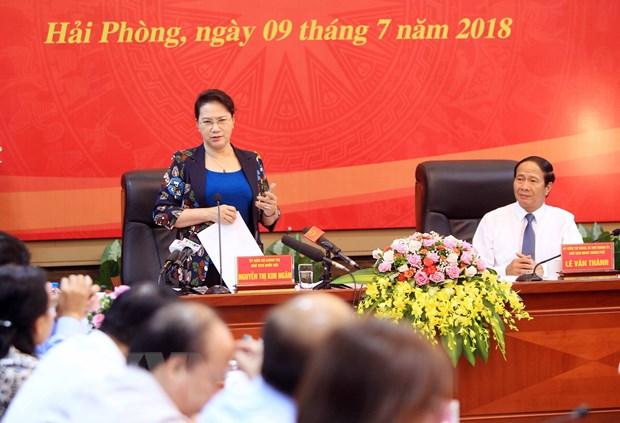 Chu tich Quoc hoi: Hai Phong can giai quyet