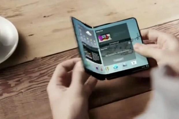 Samsung muon ra dien thoai gap man hinh dau tien tren the gioi hinh anh 1