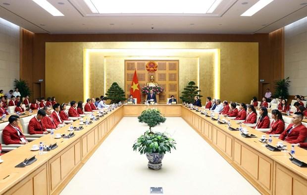 Thu tuong gap mat doan the thao Viet Nam tham du ASIAD 2018 hinh anh 1