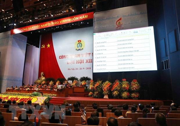Bau 161 nguoi vao BCH Tong Lien doan Lao dong Viet Nam khoa XII hinh anh 1