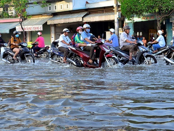 Thanh pho Ho Chi Minh: Nhieu phuong tien bi un u do mua lon hinh anh 1