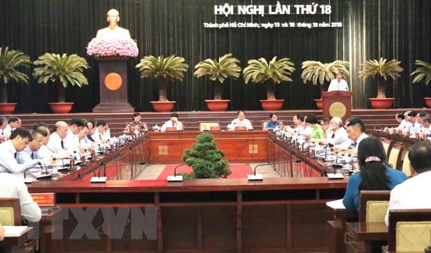 Be mac Hoi nghi lan thu 18 Ban Chap hanh Dang bo Thanh pho Ho Chi Minh hinh anh 1