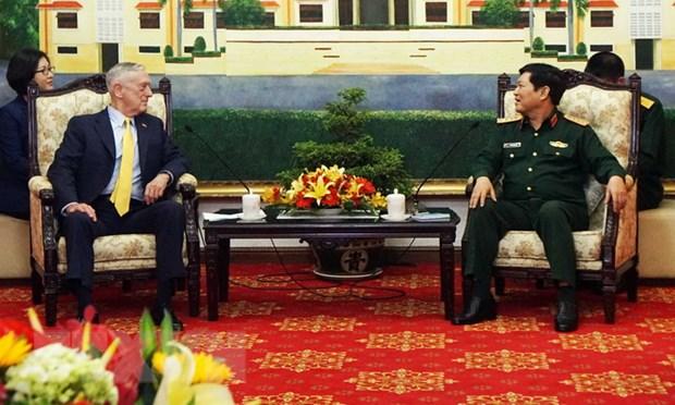 Viet Nam va Hoa Ky tang cuong hop tac trong linh vuc quoc phong hinh anh 1