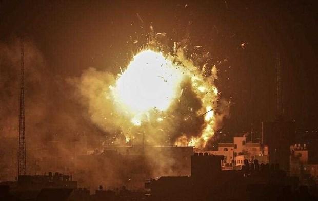 Israel nem bom dai truyen hinh cua phong trao Hamas o Gaza hinh anh 1
