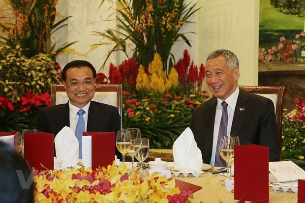 Thu tuong Trung Quoc hoi dam voi nguoi dong cap Singapore hinh anh 1