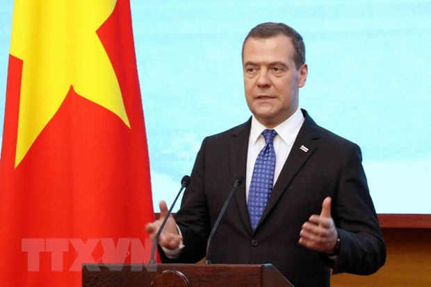 Thu tuong Nga Medvedev ket thuc chuyen tham chinh thuc Viet Nam hinh anh 1