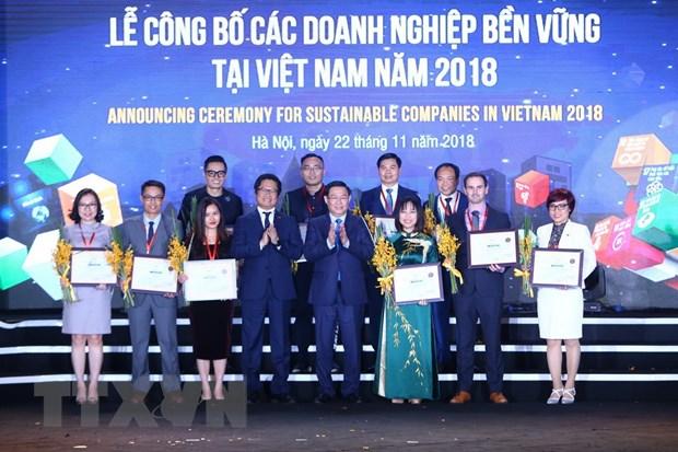 Cong bo 100 Doanh nghiep ben vung tai Viet Nam nam 2018 hinh anh 1