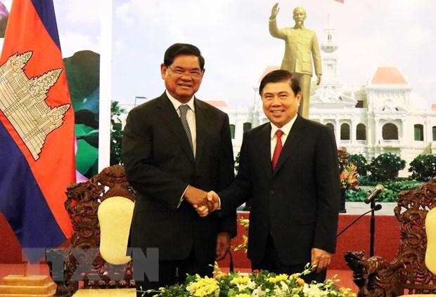 Lanh dao Thanh pho Ho Chi Minh tiep Pho Thu tuong Campuchia Sar Kheng hinh anh 1
