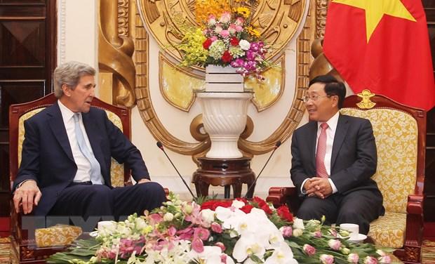 Pho Thu tuong Pham Binh Minh tiep cuu Ngoai truong Hoa Ky John Kerry hinh anh 1