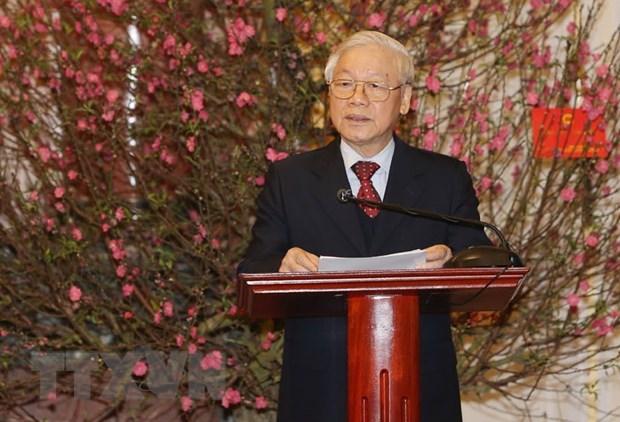Tong Bi thu: Dang vung manh, dat nuoc phat trien, dan toc truong ton hinh anh 1