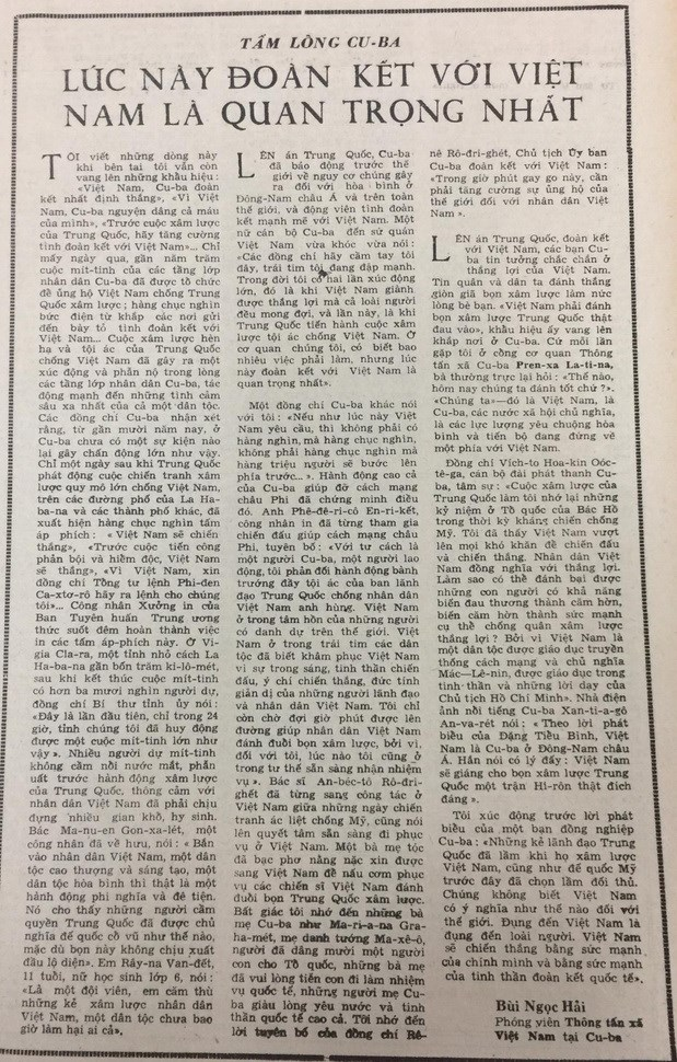 Bien gioi 1979: Neu Viet Nam yeu cau, ca trieu nguoi Cuba se buoc len hinh anh 2