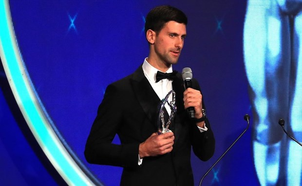 Giai 'Oscar the thao' 2019 vinh danh tay vot Novak Djokovic hinh anh 1