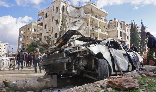 Syria: Danh bom kep tai thanh pho Idlib, it nhat 15 nguoi thiet mang hinh anh 1