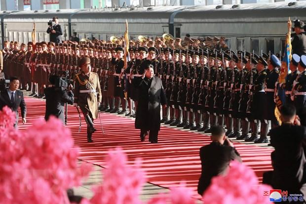 Bao Trieu Tien ca ngoi chuyen tham Viet Nam cua Chu tich Kim Jong-un hinh anh 1