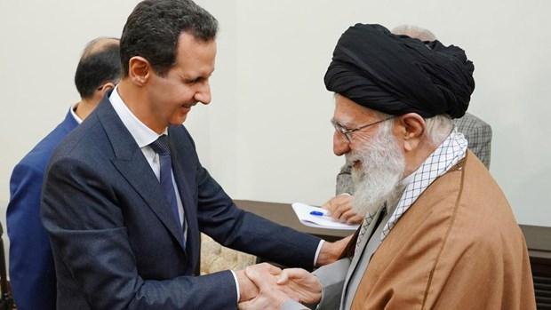 Tong thong Syria Bashar al-Assad hoi kien lanh tu toi cao Iran hinh anh 1