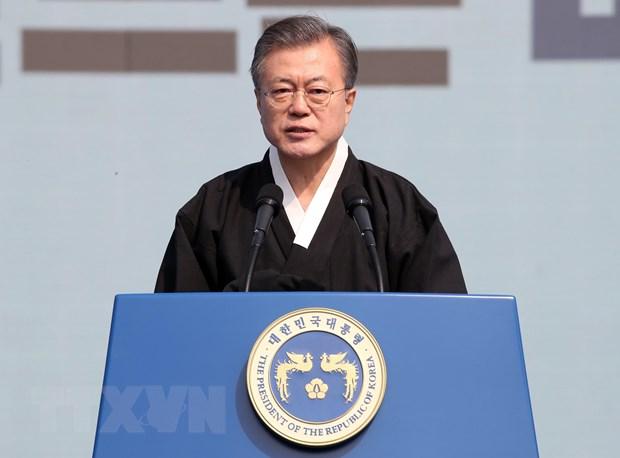 Han Quoc keu goi lap cong dong hoa binh tren ban dao Trieu Tien hinh anh 1