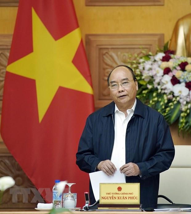 Thu tuong Nguyen Xuan Phuc lam viec voi cac chuyen gia, nha khoa hoc hinh anh 1