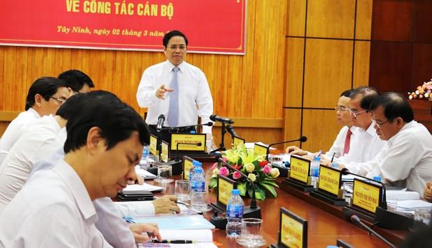 Truong Ban To chuc Trung uong lam viec tai tinh Tay Ninh hinh anh 1