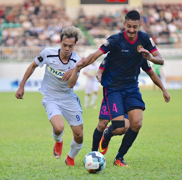 Hoang Anh Gia Lai that bai 1-3 tren san nha truoc Sai Gon FC hinh anh 1