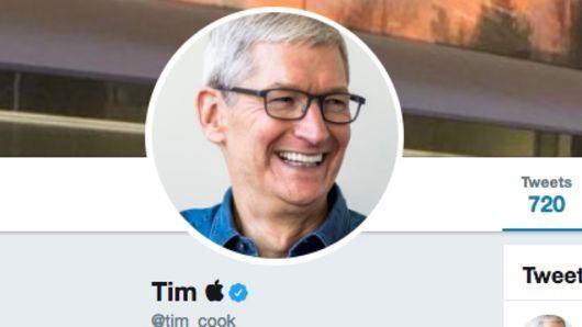 CEO Apple Tim Cook doi ten tai khoan Twitter thanh Tim Apple hinh anh 1