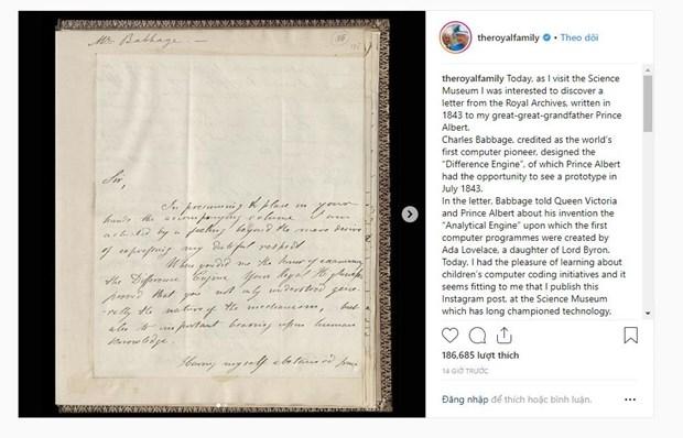 Nu hoang Anh Elizabeth II lan dau tien chia se anh tren Instagram hinh anh 1