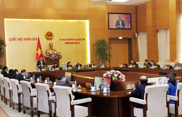 Quang cảnh phiên họp thứ 32 của Ủy ban Thường vụ Quốc hội khóa XIV. Ảnh: Nguyễn Dân/TTXVN