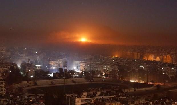 Syria day lui cac cuoc khong kich cua Israel tai Aleppo hinh anh 1