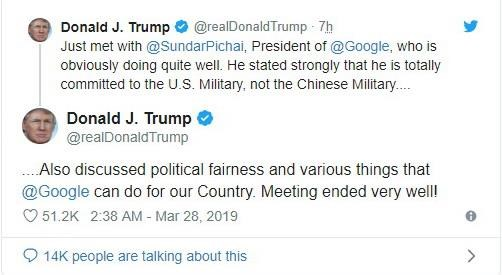 Ong Trump: CEO Google cam ket hop tac manh me voi Chinh phu My hinh anh 1
