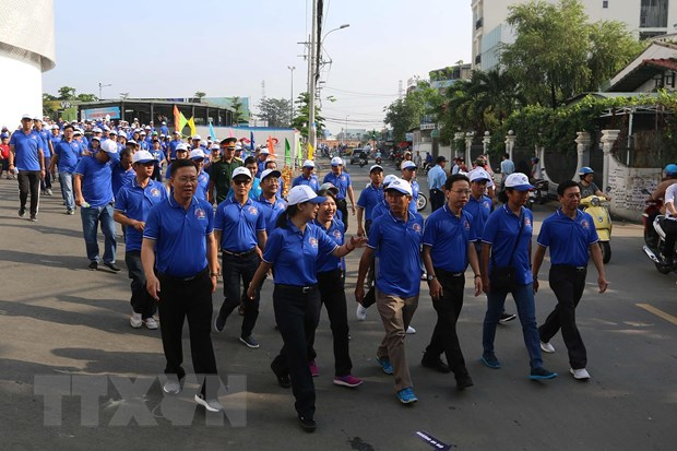 Gan 3.000 nguoi tham gia ngay hoi cong nhan o Thanh pho Ho Chi Minh hinh anh 1