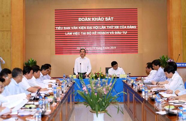 Doan Tieu ban Van kien lam viec voi Ban can su dang Bo KH-DT hinh anh 1