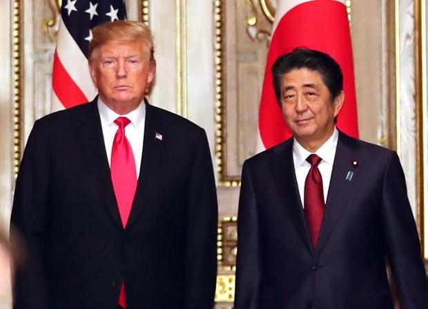 Thu tuong Nhat Ban Abe va Tong thong My Trump hoi dam song phuong hinh anh 1