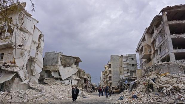 Syria: Luc luong chinh phu tang cuong khong kich khu vuc Tay Bac hinh anh 1
