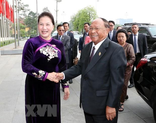 Chu tich Quoc hoi Campuchia ket thuc chuyen tham chinh thuc Viet Nam hinh anh 1