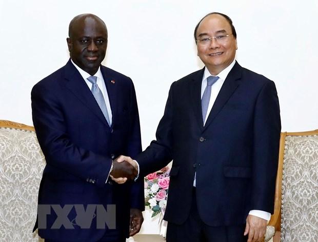 Thu tuong Nguyen Xuan Phuc tiep Bo truong Ngoai giao Cote d'Ivoire hinh anh 1