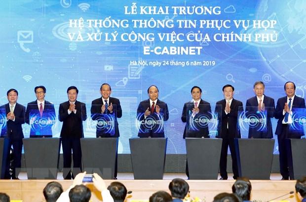 Thu tuong Nguyen Xuan Phuc chu tri cuoc hop qua he thong e-Cabinet hinh anh 1