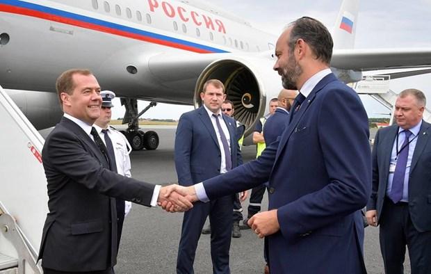 Thu tuong Nga Dmitry Medvedev bat dau chuyen tham Phap hinh anh 1